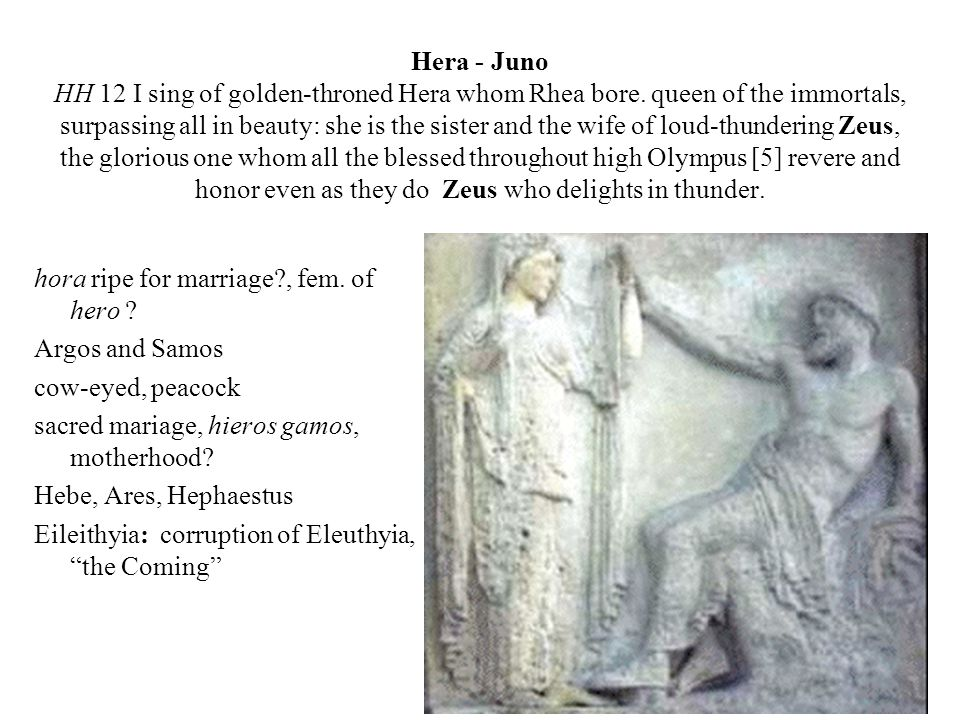 Demeter - Ceres HH 13 I begin to sing of rich-haired Demeter, revered goddess, of her and of her daughter lovely Persephone.
