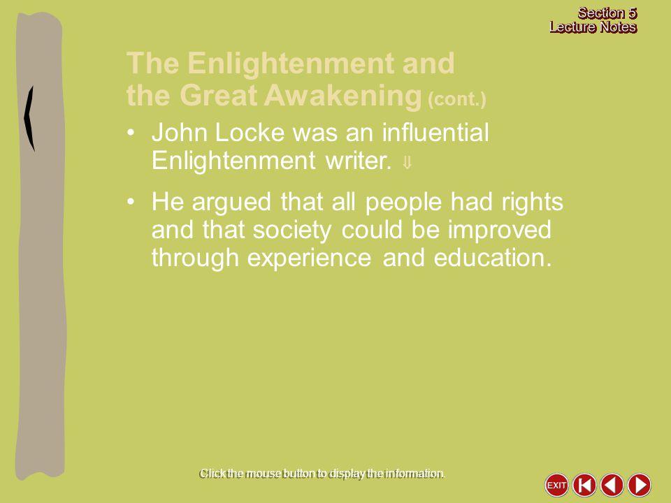 John Locke was an influential Enlightenment writer.