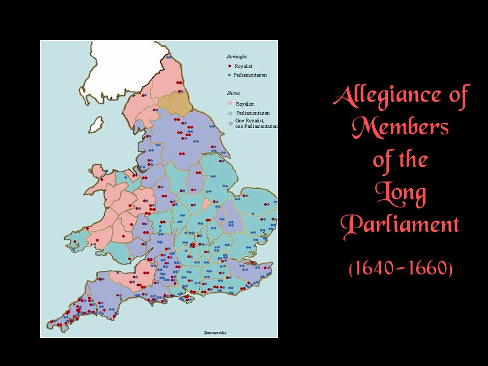 Allegiance of Members of the Long Parliament (1640-1660)