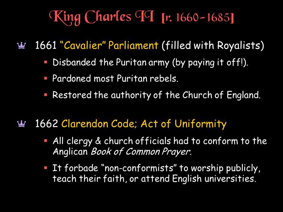 King Charles II [ r.