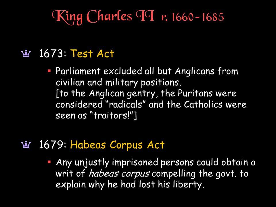 King Charles II r.