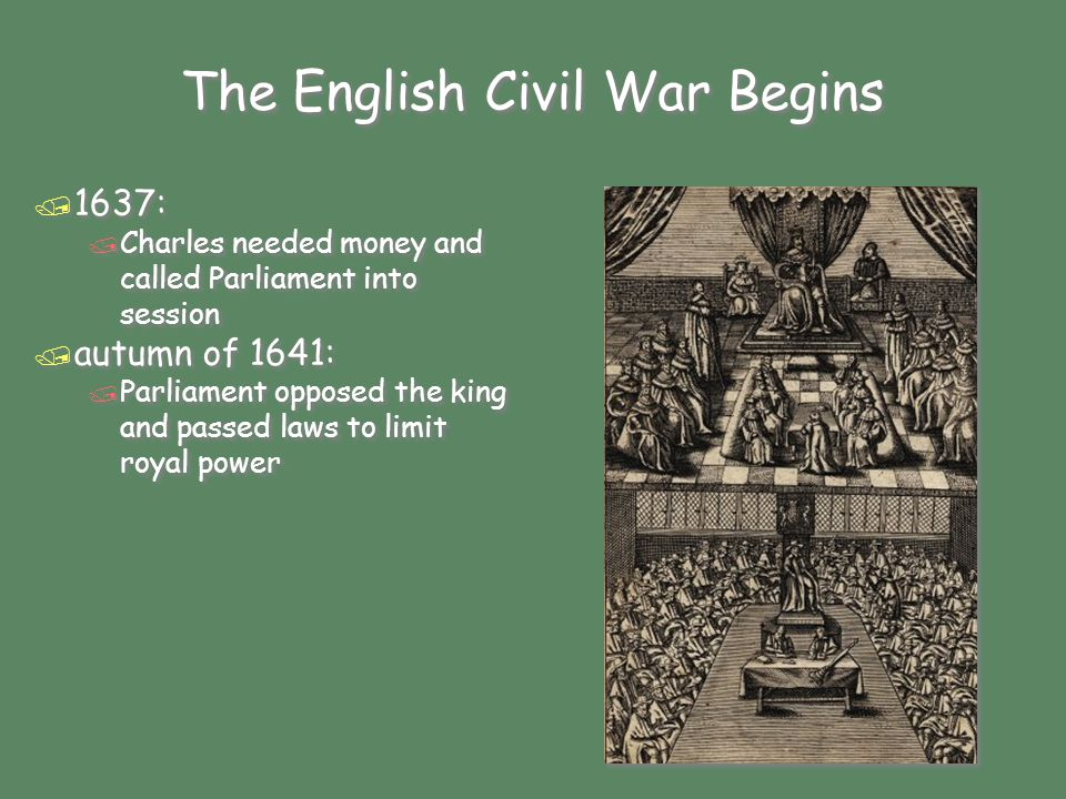 / January 1642: / Charles tried to arrest Parliament's leaders / they escaped / January 1642: / Charles tried to arrest Parliament's leaders / they escaped