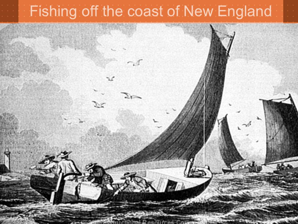 Fishing off the coast of New England