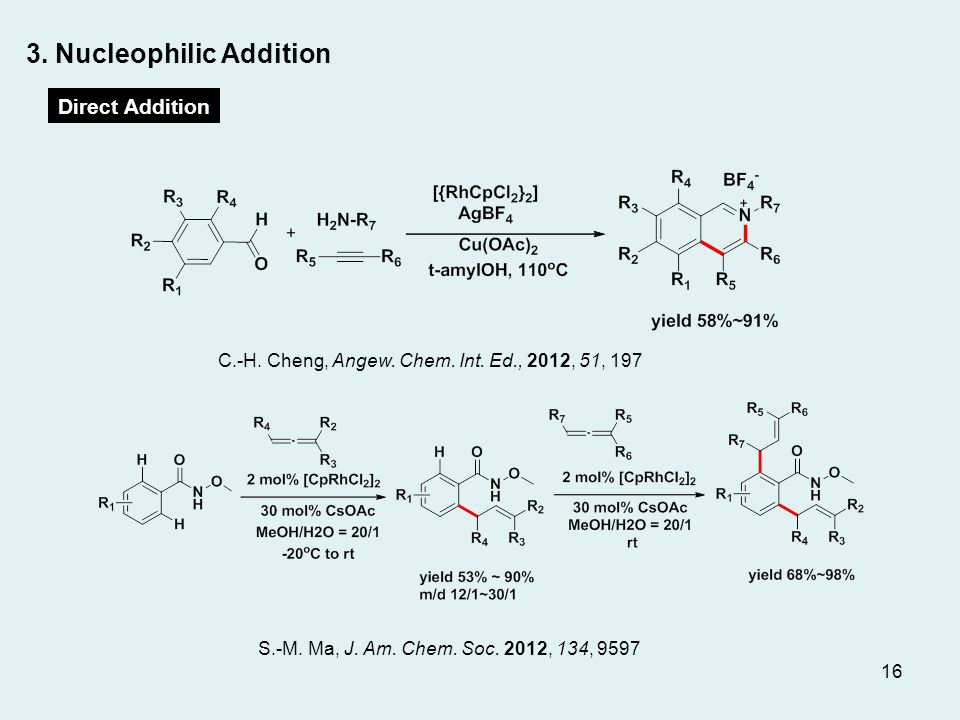 3. Nucleophilic Addition Direct Addition S.-M. Ma, J.