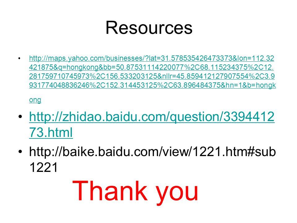 Resources http://maps.yahoo.com/businesses/ lat=31.578535426473373&lon=112.32 421875&q=hongkong&bb=50.87531114220077%2C68.115234375%2C12.