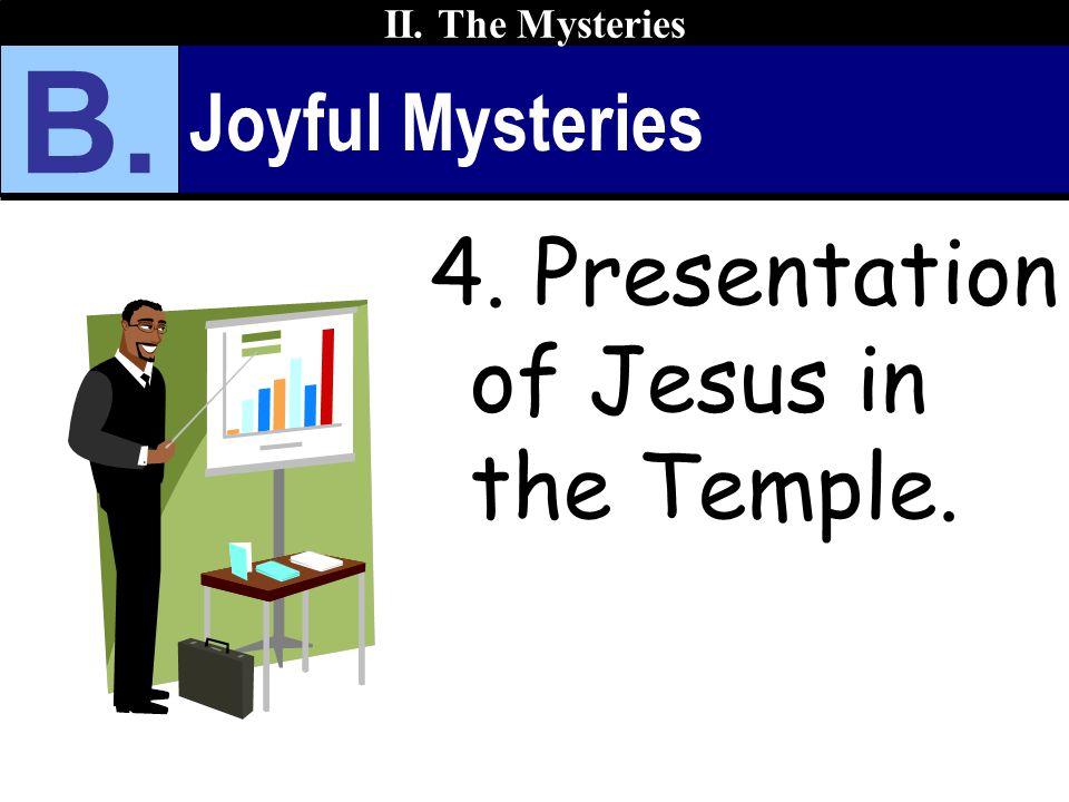 Joyful Mysteries 4. Presentation of Jesus in the Temple. II. The Mysteries B.