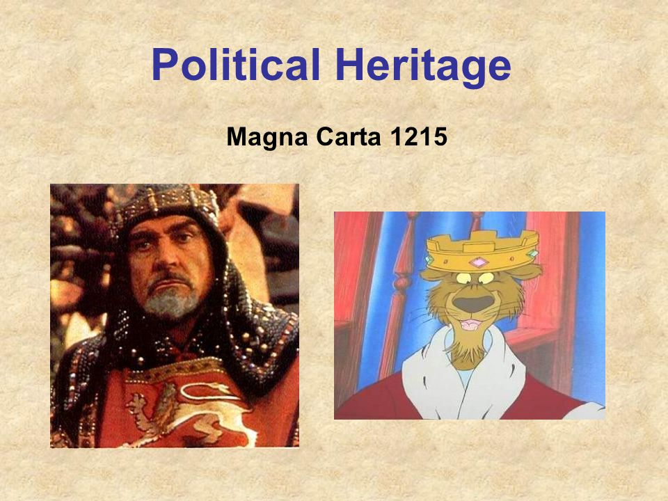 Political Heritage Magna Carta 1215