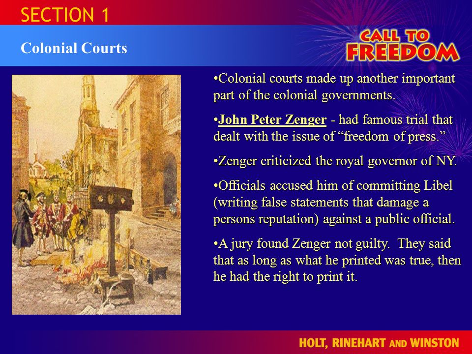 SECTION 1 The Glorious Revolution The political ideas of the Glorious Revolution led parliament to pass the English Bill of Rights of 1689.The political ideas of the Glorious Revolution led parliament to pass the English Bill of Rights of 1689.