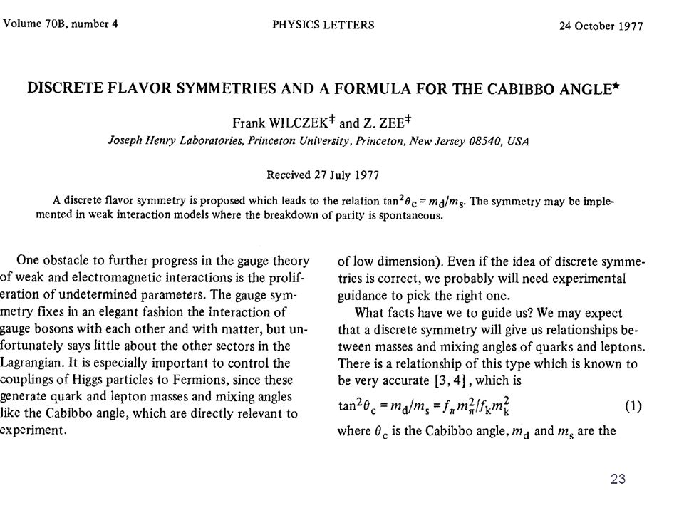 Impose a symmetry on the action, and hope to fix the physics Einstein invented this way of doing theoretical physics 24
