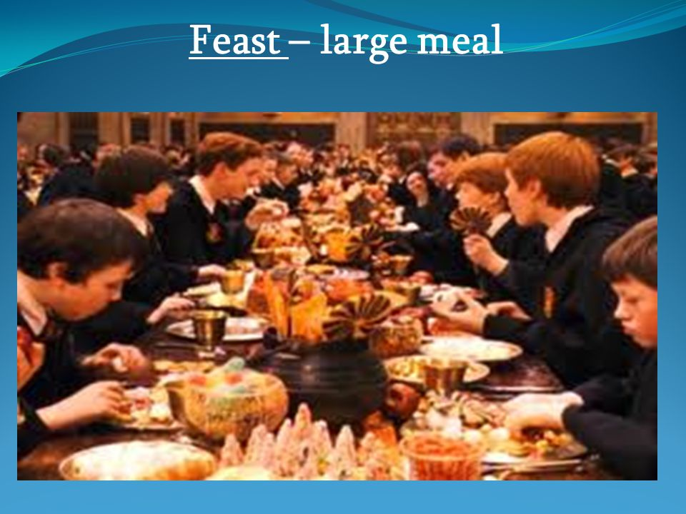 Feast – large meal