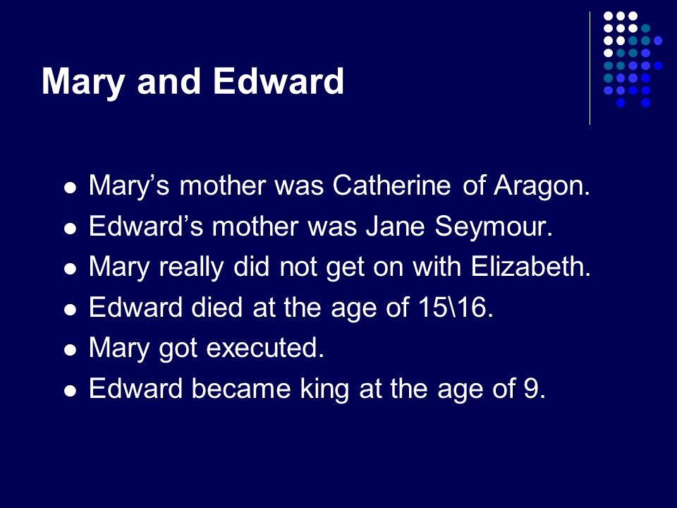 Edward and Mary Who were Elizabeth's brothers and sisters?