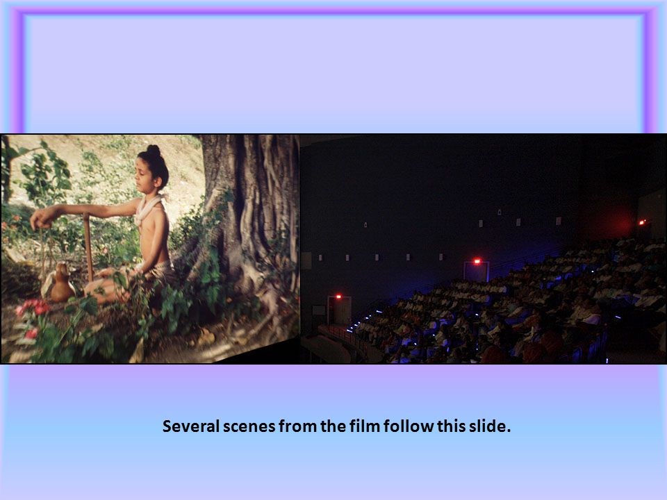 Several scenes from the film follow this slide.