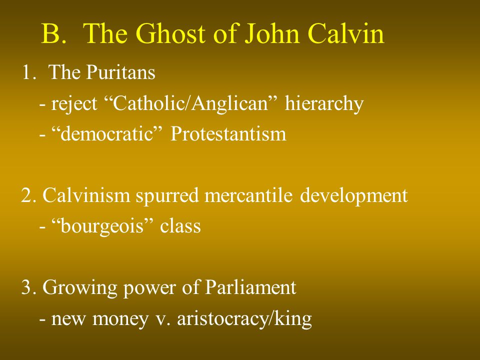 B. The Ghost of John Calvin 1.