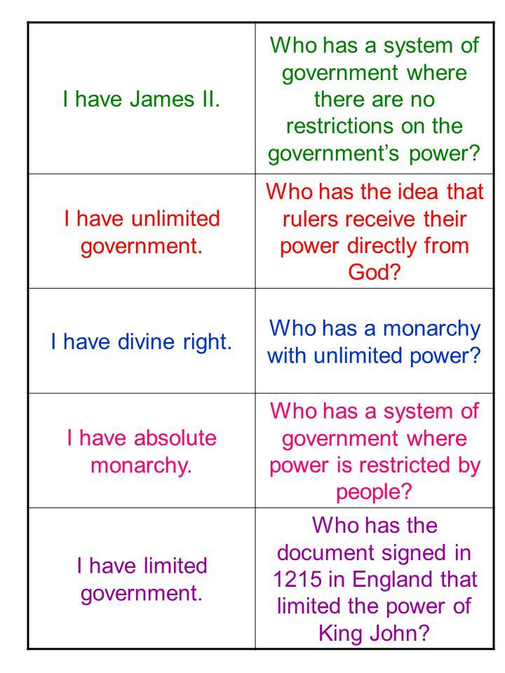 I have James II.