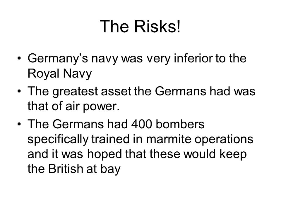 The Risks.