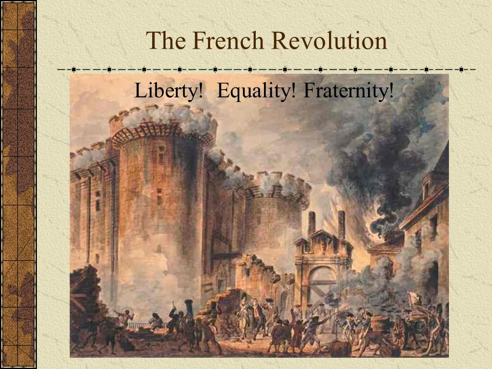 The French Revolution Liberty! Equality! Fraternity!