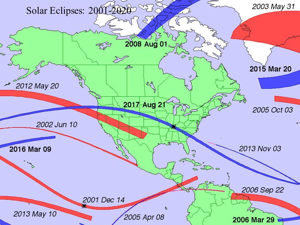 Solar Eclipses: 2001-2020