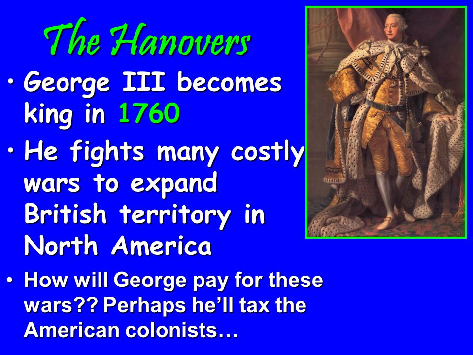 The Hanovers The English throne passes to the German Hanover familyThe English throne passes to the German Hanover family Parliament's powers increaseParliament's powers increase They create a cabinet & a prime ministerThey create a cabinet & a prime minister