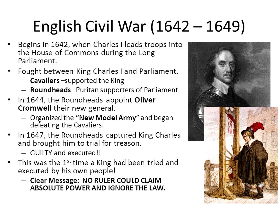 Cromwell's Commonwealth Oliver Cromwell came to power and established a commonwealth.