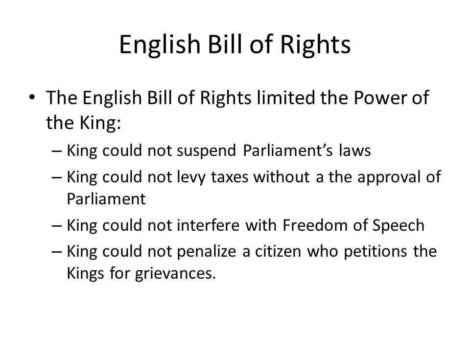Constitutional Government Evolves The Glorious Revolution created a type of government called a Limited Monarchy.