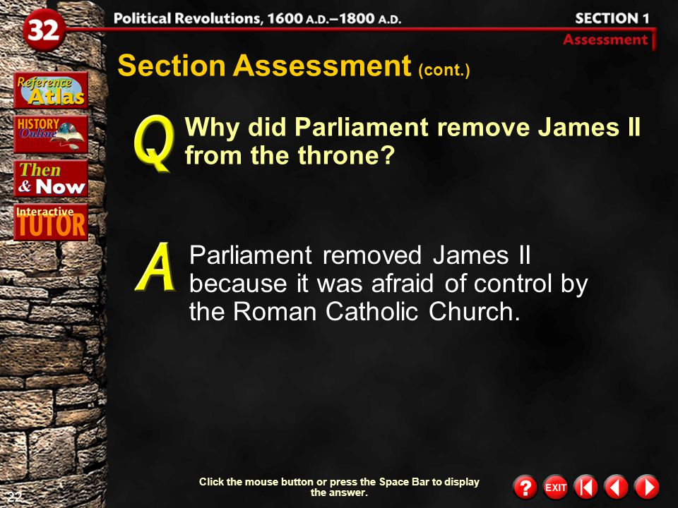 21 Section 1-Assessment 1 Section Assessment Why did civil war finally break out between the Crown and Parliament in 1642.