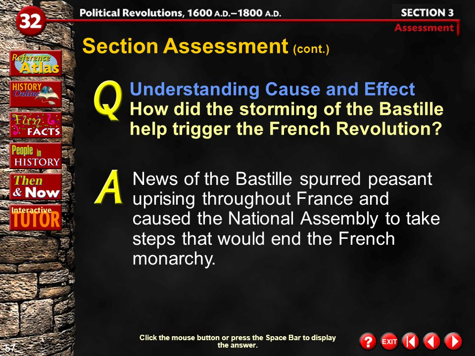 56 Section 3- Assessment 3 Click the mouse button or press the Space Bar to display the answer.