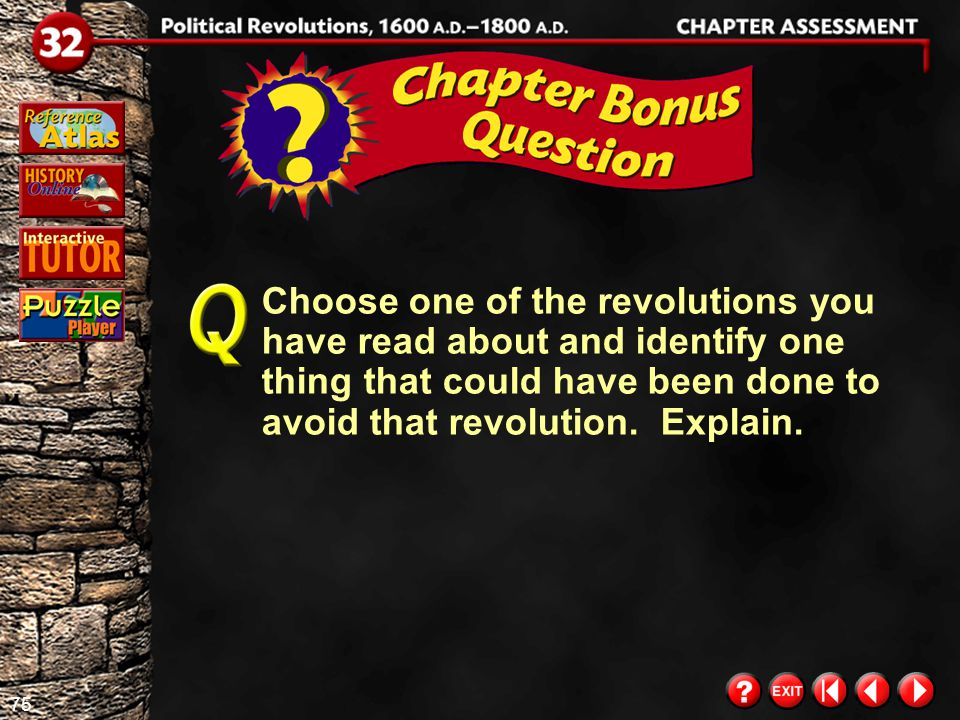 74 Chapter Assessment 13 Movement Look at the maps of the American Revolution on page 511 of your textbook.