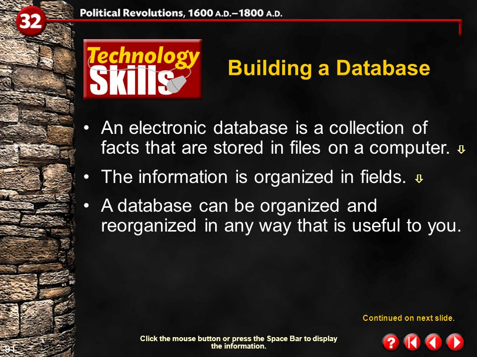 90 Technology Skills 1.1 Building a Database Have you ever collected baseball cards or cataloged the CDs in your collection.