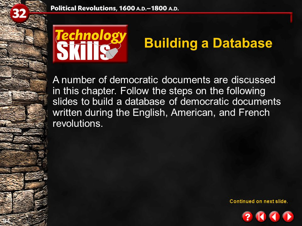 93 Technology Skills 1.4 Building a Database When you want to retrieve information, your computer searches through the files, finds the information, and displays it on the screen.