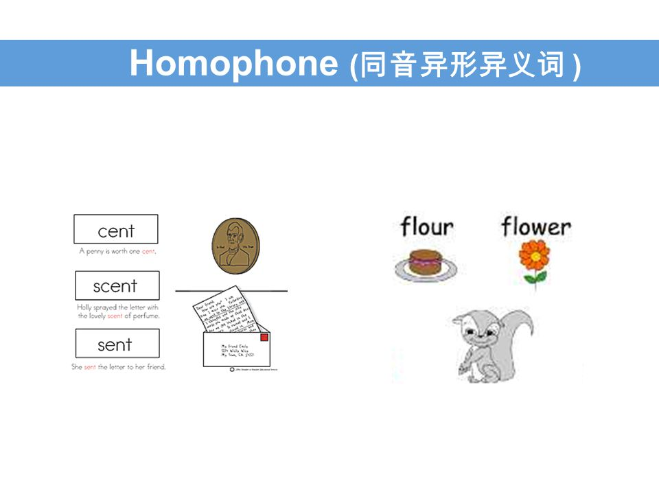 Homophone ( 同音异形异义词 )
