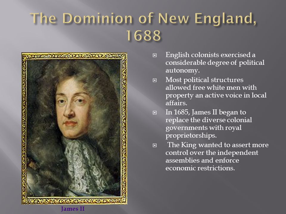  English colonists exercised a considerable degree of political autonomy.