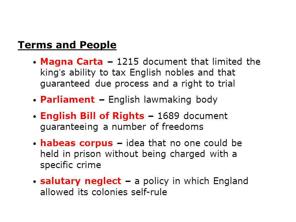 The colonists believed that the English Bill of Rights applied to them, even though they lived in the colonies.