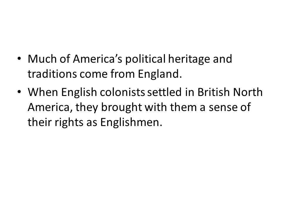 In exchange, the colonies bought manufactured goods from England.