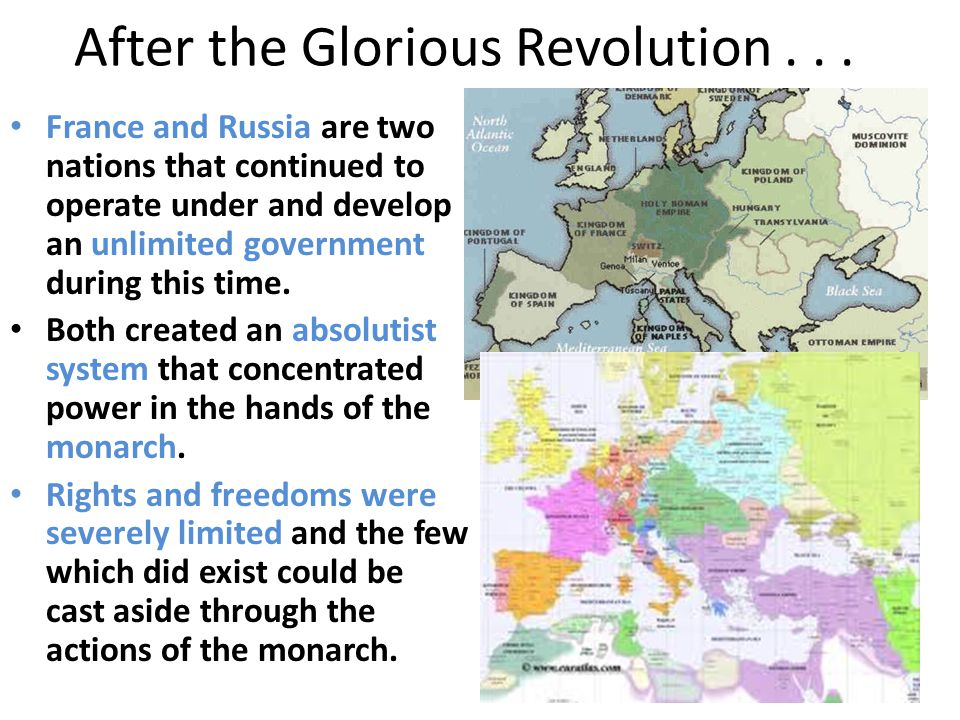 After the Glorious Revolution...