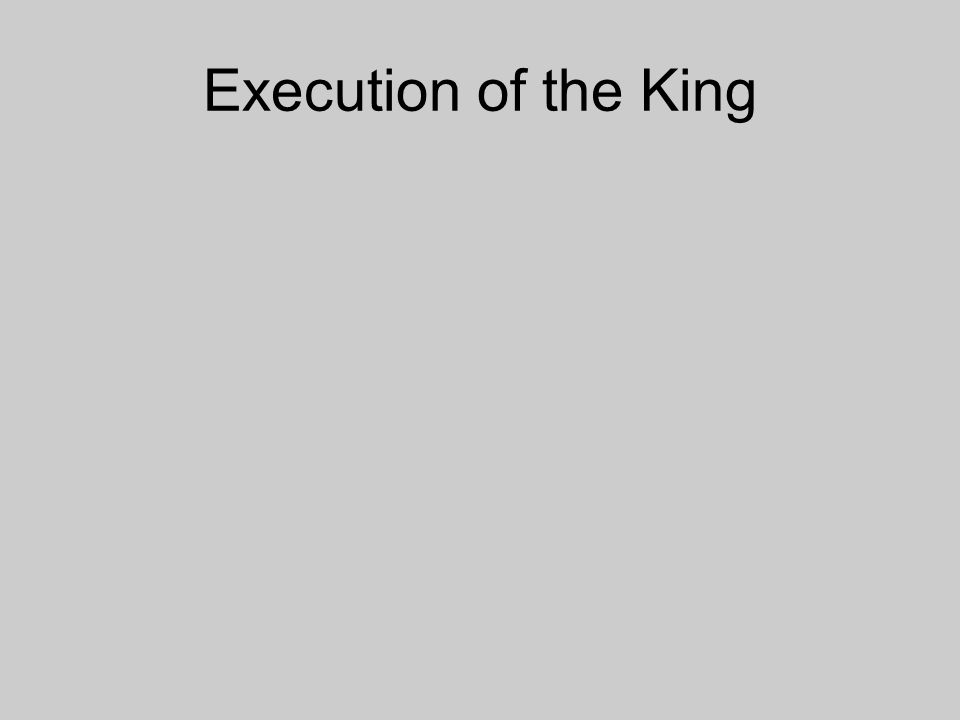 Execution of the King