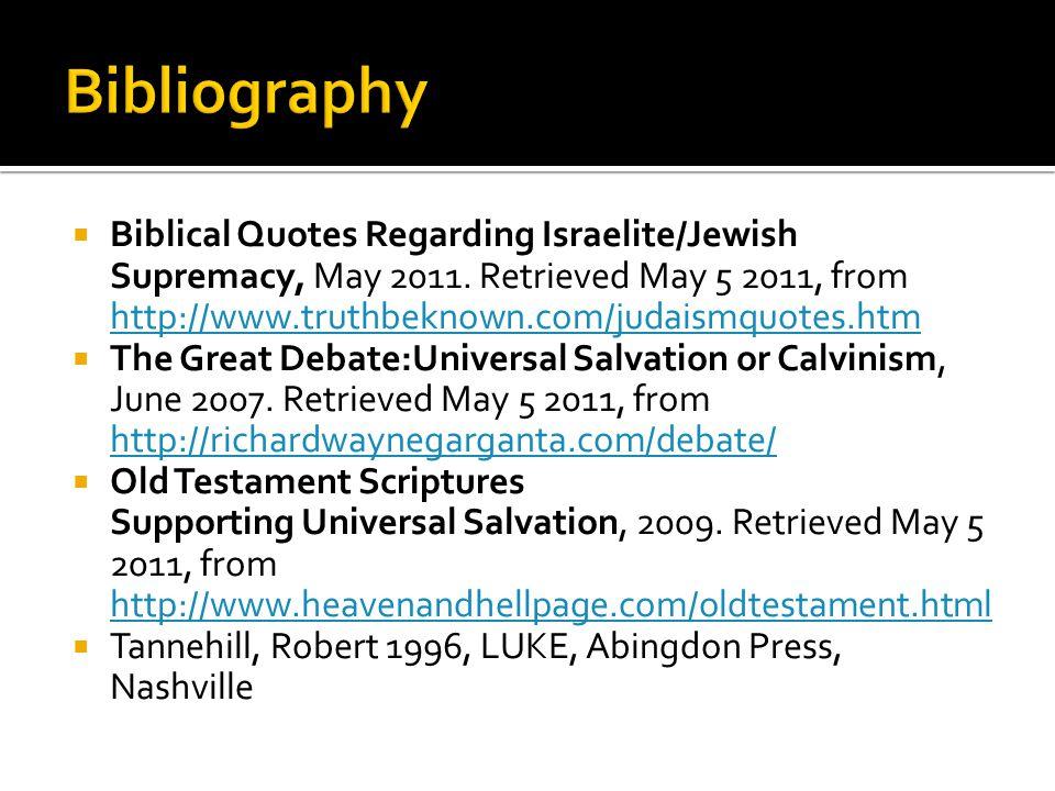  Biblical Quotes Regarding Israelite/Jewish Supremacy, May 2011.