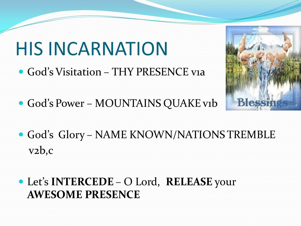 HIS INSPIRATION Glorious Moment of ISRAEL/WORLD – PENTECOST Acts 2………………The Great Awakening 1.2.3 Glorious Moment of MALAYSIA – REVIVAL LATE 70'S ………………………..