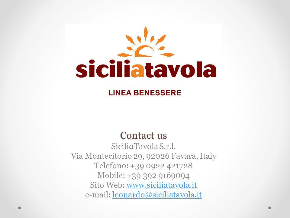 Contact us Contact us SiciliaTavola S.r.l.