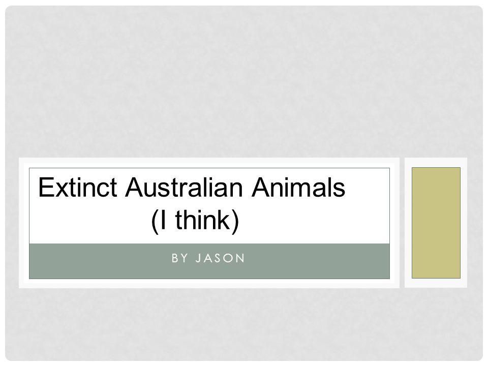 BY JASON Extinct Australian Animals (I think)