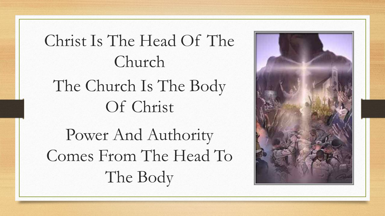 Christ Is The Head Of The Church The Church Is The Body Of Christ Power And Authority Comes From The Head To The Body