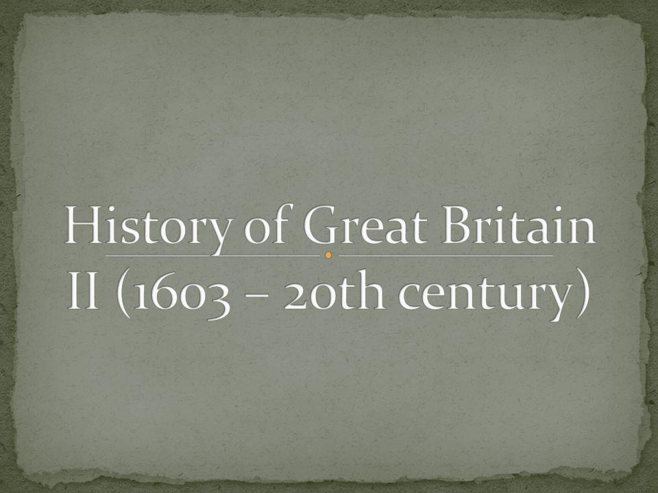 James I ( reigned 1603 – 1625 | lived 1566 - 1625) – golden cultural era – William Shakespeare, John Donne - 5th November 1605 – Gunpowder plot – Robert Gatesby, Guy Fawkes Charles I ( r.