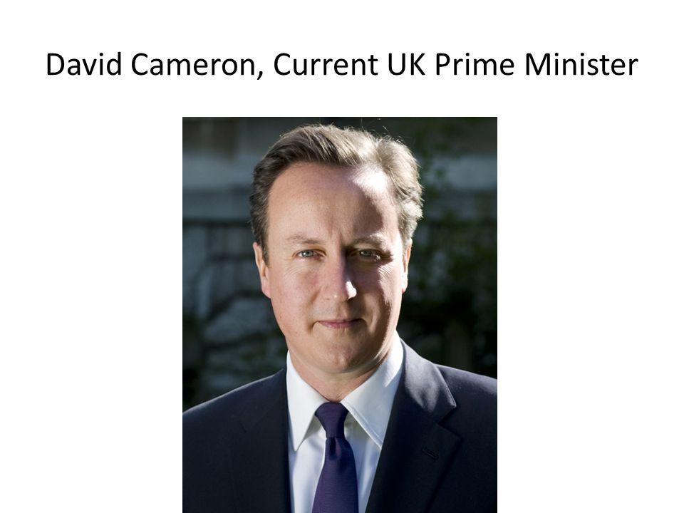 David Cameron, Current UK Prime Minister