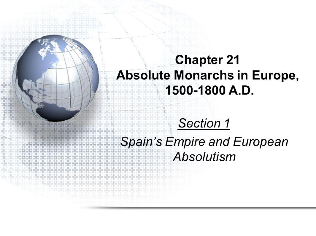 World History Unit 5 Absolutism to Revolution: 1500-1900
