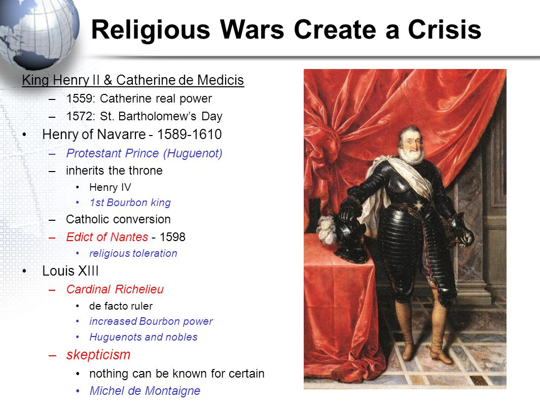Objectives To describe religious and political conflicts in France. To explain Louis XIV's policies. To characterize the style of the French royal cou