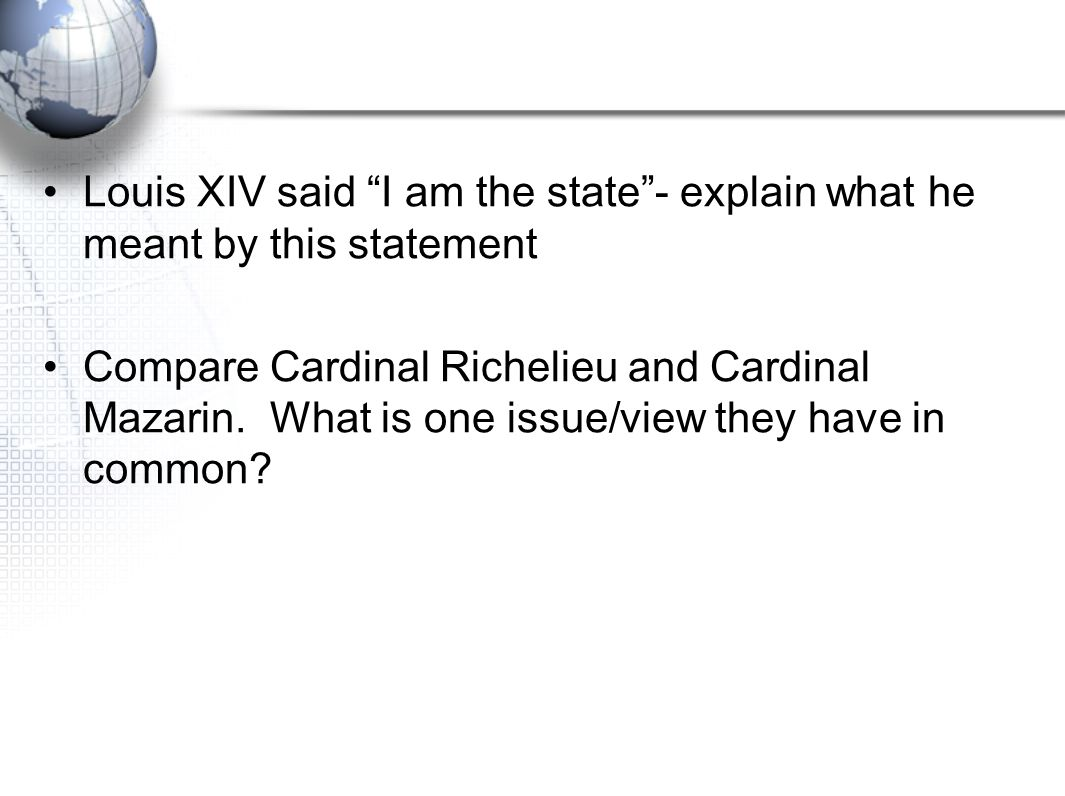 1. Describe Versailles 2. Why does Louis XIV dislike nobility? 3. Explain the Edict of NantesExplain the Edict of Nantes