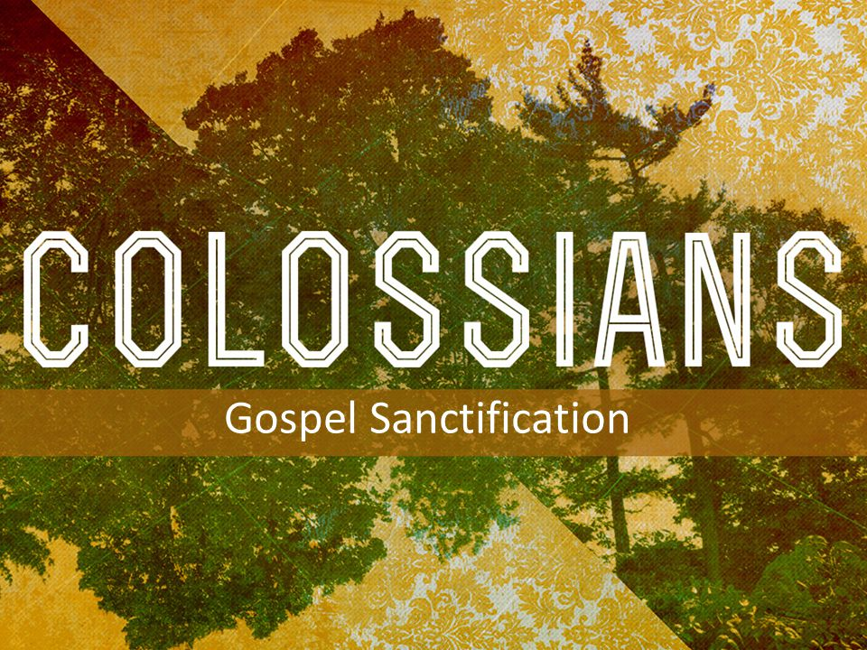 INTRODUCTION TO COLOSSIANS Gospel Sanctification