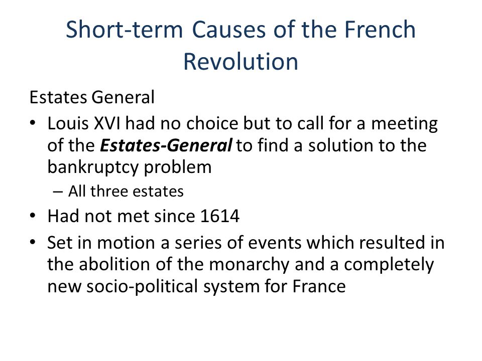 Four Phases of the French Revolution National Assembly (1789-1791)Legislative Assembly (1791-1792)Convention (1792-1795)Directory (1795-1799)