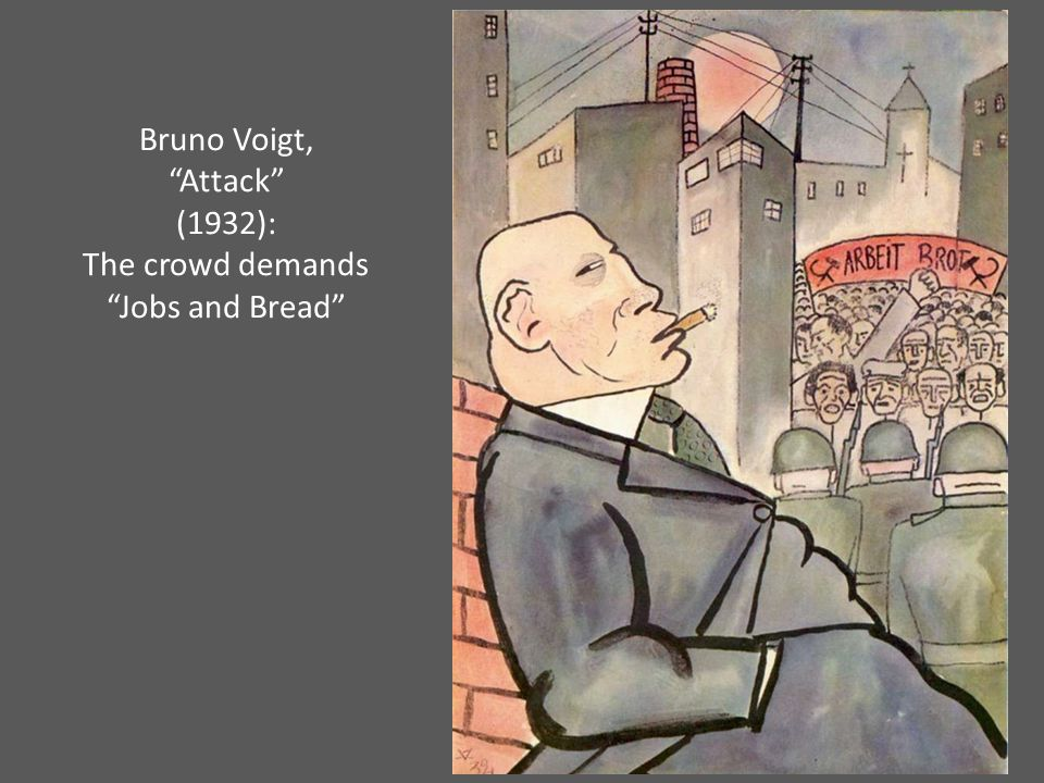 Bruno Voigt, Attack (1932): The crowd demands Jobs and Bread