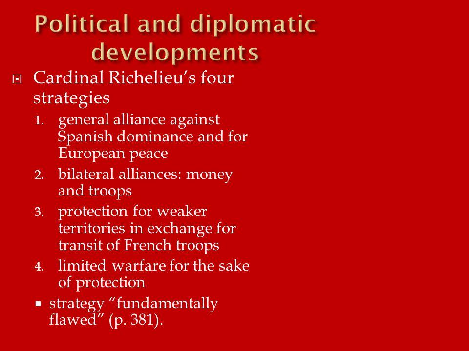  Cardinal Richelieu's four strategies 1.