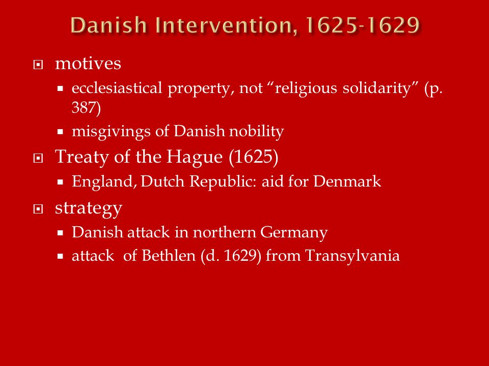  motives  ecclesiastical property, not religious solidarity (p.